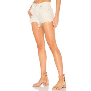 Free People Daisy Chain Lace Shorts Cut Offs White